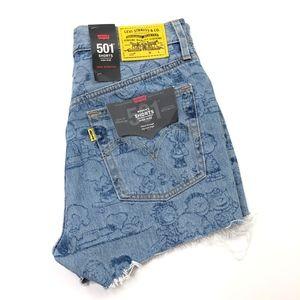 Levi's Shorts - Levis   501 Cut Off Shorts Peanuts Denim High Rise